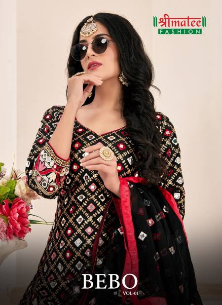 Shreematee Bebo Vol 1 Latest Designer Festive Wear Collection Of Jam Cotton With Embroidery Sequence & Real Mirror Work Readymade Patiyala Suit