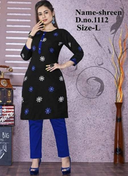 Shreen 1112 Latest Regular Wear Cotton Designer Kurti Collection