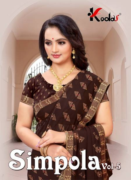 Simpola 5 Latest fancy Designer Casual Wear Weightless Printed With Diamond Saree Collection