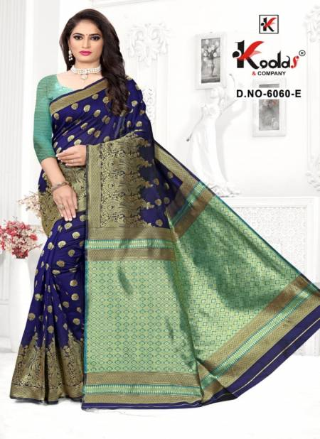 Skoda - 6060 Latest Fancy Designer Festive Wear Pure Silk Saree Collection Full Catalog Available At Wholesale Rate.