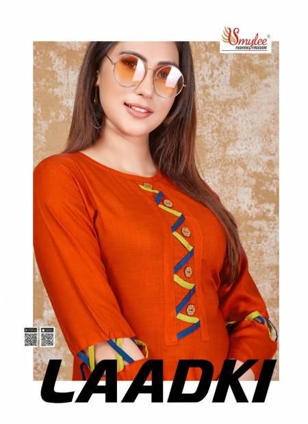 Smylee Ladki Heavy Latest Fancy Designer Ethnic Wear Rayon Casual Kurti Collection
