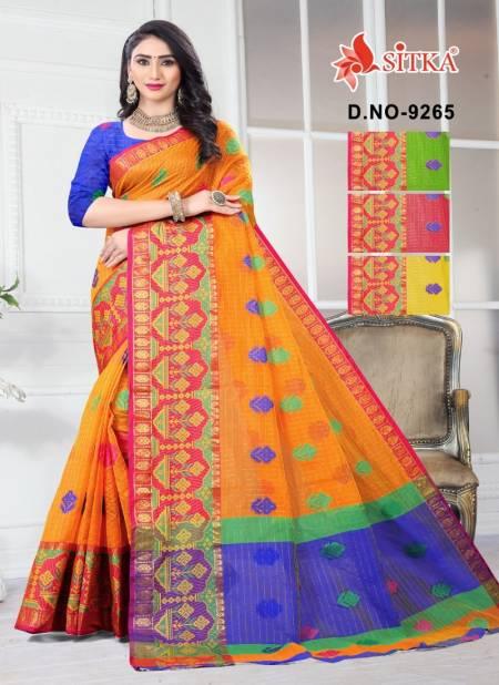 Splendid 9265 Latest Fancy Designer Casual Wear Handloom Cotton Silk Saree Collection