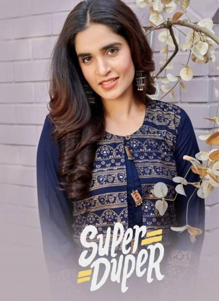 Super Duper Hit Latest Fancy Designer Ethnic Wear Long Heavy Rayon Kurtis Collection