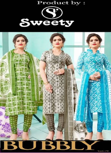 Sweety Bubbly Vol 79 Casual Wear Printed Cotton Dress Material Collection