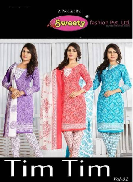Sweety Tim Tim Vol 32 Latest Printed Casual Wear Cotton Dress Material Collection