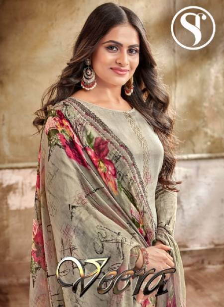 SWEETY VEERA Latest Designer Heavy Fancy Festive Wear Cambric Cotton With Swarovski Diamond Work Heavy salwar Suit Collection