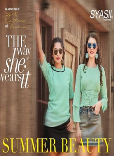 Syasii Summer Beauty Fancy Elegant Latest fancy Heavy Western Ladies Top Collection