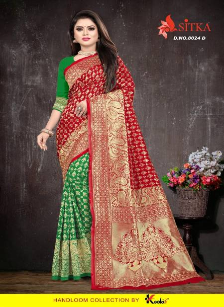 Taal 8024 Latest Designer Festival Wear Cotton Silk Saree Collection