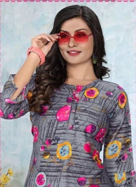 Trendy Aktara Regular Latest Designer Casual Wear Heavy Rayon Crepe Printed Kurtis Collection
