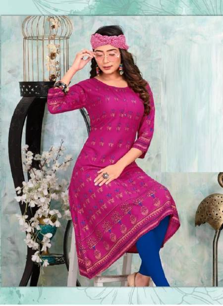 TRENDY Eclairs vol. 2 Latest Fancy Designer Heavy Casual Wear Rayon Printed Stylish Kurti Collection