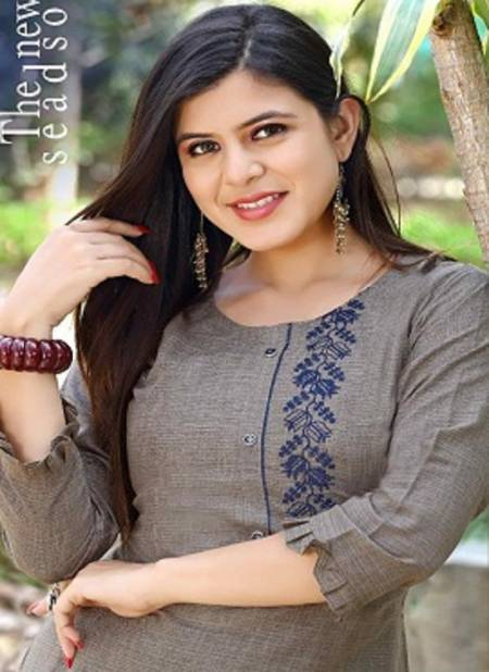 Trendy Pearl Latest Fancy Designer Ethnic Wear Embroidery Rayon Kurti With Bottom Collection