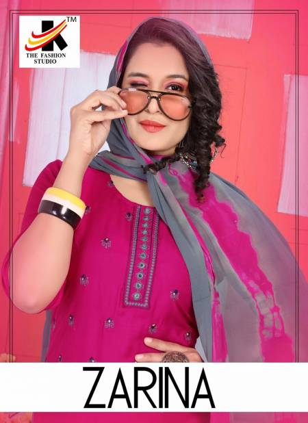 Trendy Zarina Latest Fancy Designer Regular Casual Wear Printed Rayon Readymade Salwar Suit Collection