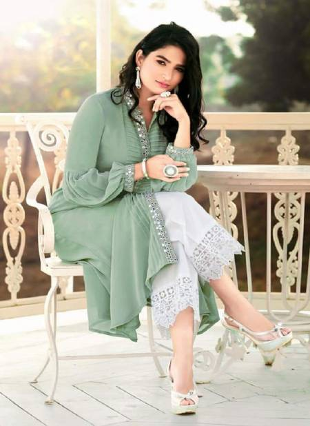 Tres Chic Collection Zs 20 Latest Designer Casual Wear Stylish Georgette Ready Made Plazzo Suit Collection
