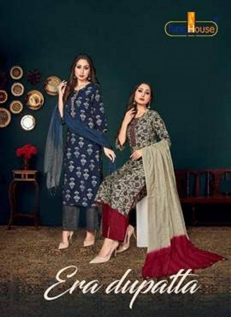 Tunic House Neha Era Dupatta Latest Collection Of Muslin Silk Printed Ready Made Salwar Kameez