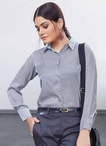 Uniform Shirts Latest Fancy Designer Casual Wear Satin Silk Shirt Collection