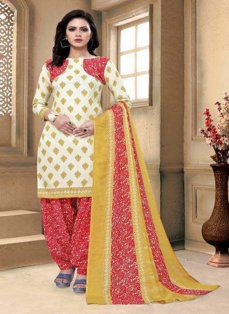 V Cotton 1 Latest Printed Cotton Regular Wear Ready Made Salwar Suit Collection