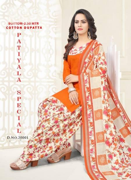 Vandana Patiyala Special 2 Latest Regular Wear Printed Cotton Ready Made Salwar Suit Collection