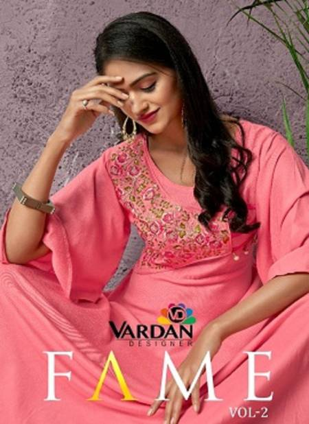 Vardan Fame Vol 2 Latest Designer Party Wear Long Heavy Rayon Stylish Gown Collection