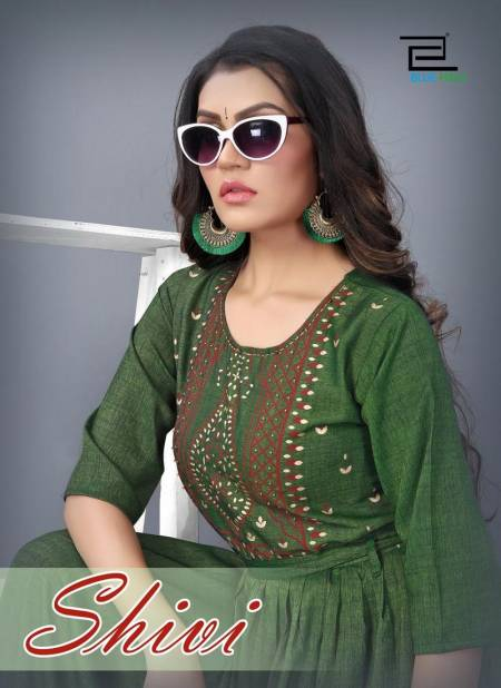 VEE FAB SHIVI Fancy Designer Ethnic Wear Heavy Rayon Two Tone Anarkali Kurtis Collection