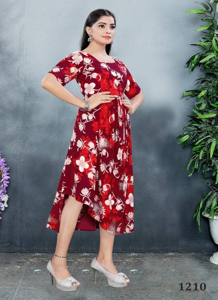 Vyona 3 Latest fancy Designer Party Ethnic Wear Crepe Stylish Western Ladies Top Collection