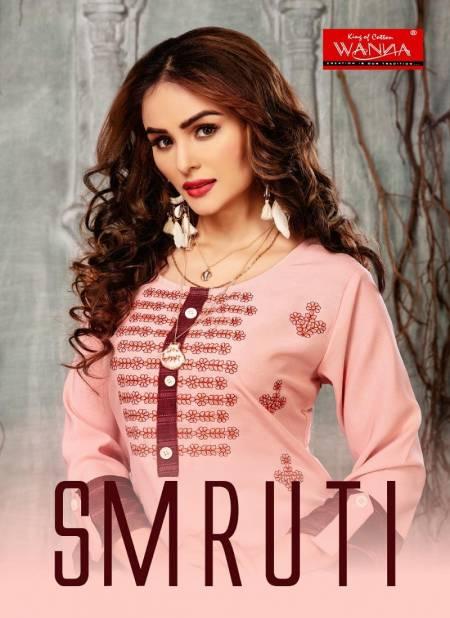 Wanna Smruti Latest Designer Casual Wear Rayon Kurti With Pant Style Bottom Collection