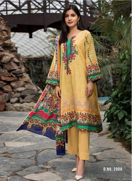 Yashika Mehnoor-2 Latest Designer Printed Pure Lawn Cotton Karachi Dress Material Collection