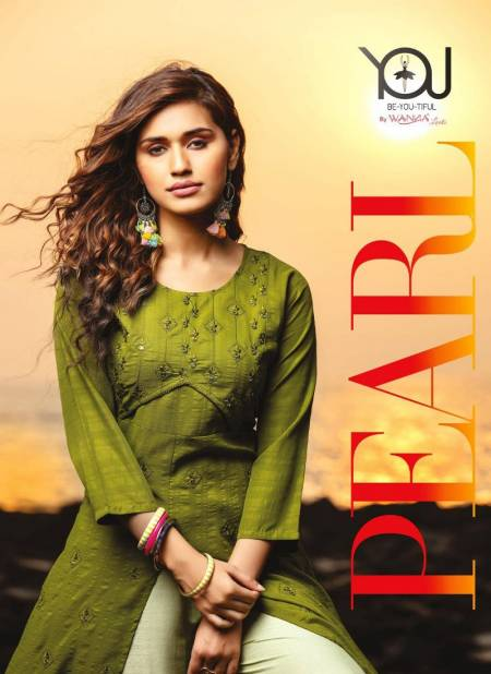 You Pearl Latest Fancy Ethnic Wear Rayon Kurtis With Bottom Collection