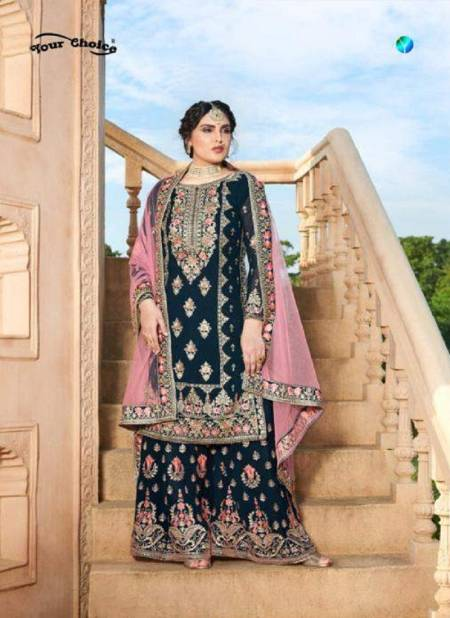 Your Choice Miss World 3 Exclusive Collection Of Heavy Wedding Wear Designer Salwar Suits With Soft Net Heavy Embroidery Border Dupatta