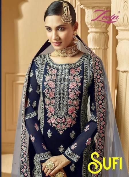 ZEEYA SUFI VOL-1 Latest Designer Heavy Wedding Wear Georgette With Inner Embroidery Work Fancy Salwar Suit Collection