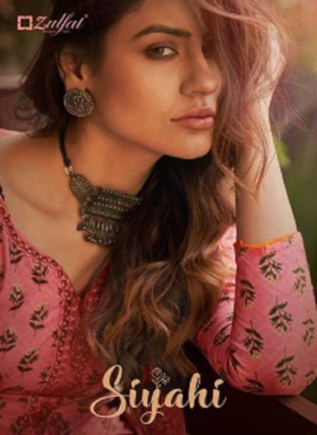 Zulfat Siyahi Pure Latest Cotton Designer Festive Wear Digital style Printed With Embroidery work Dress Material Collection