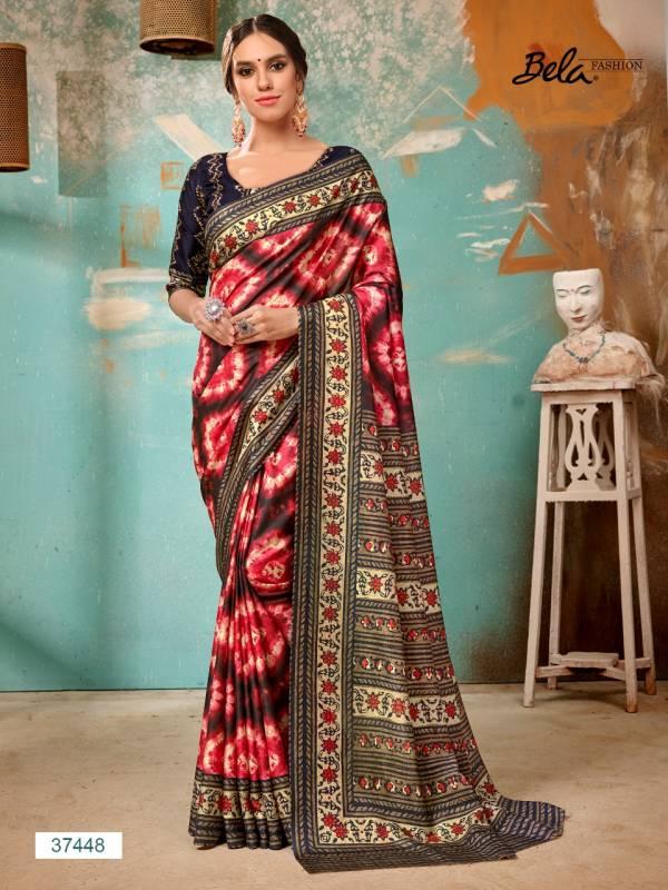 Bela Tulsi New Designer Manipuri Silk Digital Printed Latest Party Wear Saree Collection