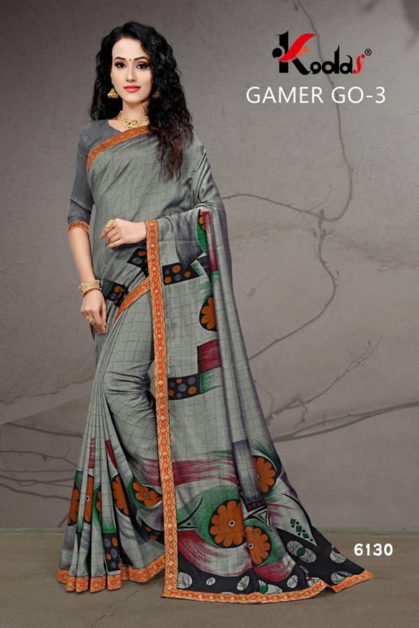 Gamer go 3 Daily Wear Printed Vichitra Silk Saree collection