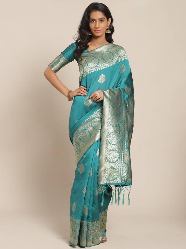 Tanisha 1 Festive Silk Blend Designer Woven Saree Collection at Wholesale Price