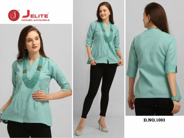 Jelite Carnation Latest Designer Fancy Western Type Cotton Ladies Top Collection