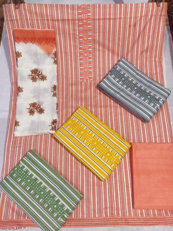 Printed Cotton Casual Wear Dress Material Collection