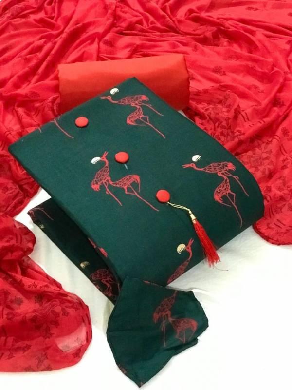Tcvv Slub Cotton 4 Casual Wear Cotton Printed Dress Material Collection