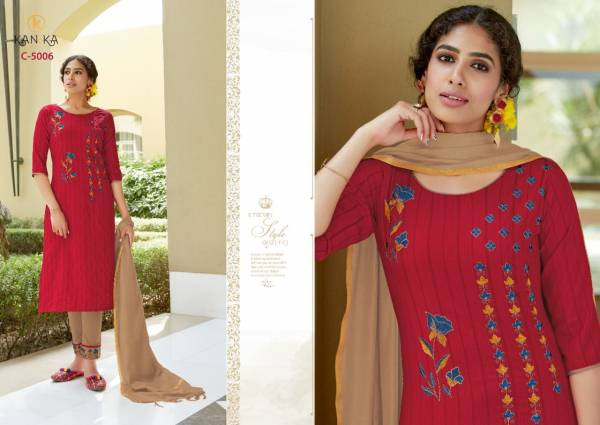 Kanika Charli Rayon Embroidery Festive Wear Designer Latest Ready Made Collection