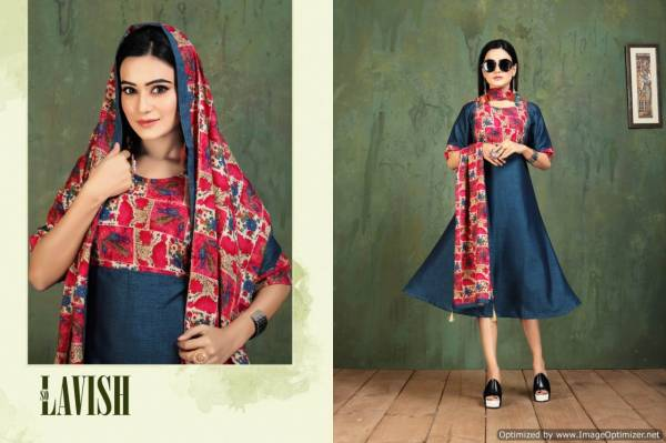 Kinti Patang Vol 13 New Fancy Collection Of Printed Designer Anarkali Cut Heavy Rayon Kurtis