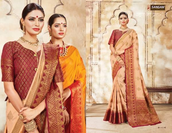 Sangam Samaira Fancy Festive Wear Heavy Printed Silk Designer Saree Collection