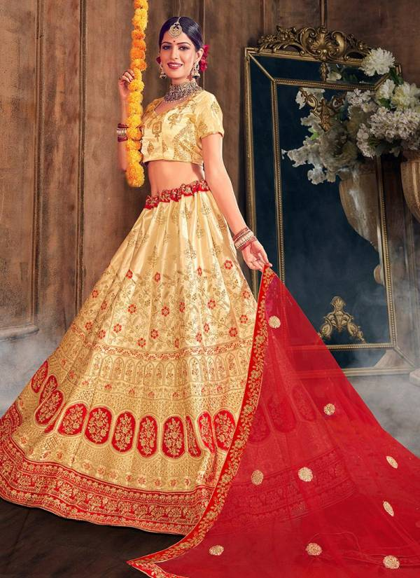 Latest Traditional Bridal Designer Lehenga Choli Collection With Full Net four Sided Bordered Dupatta