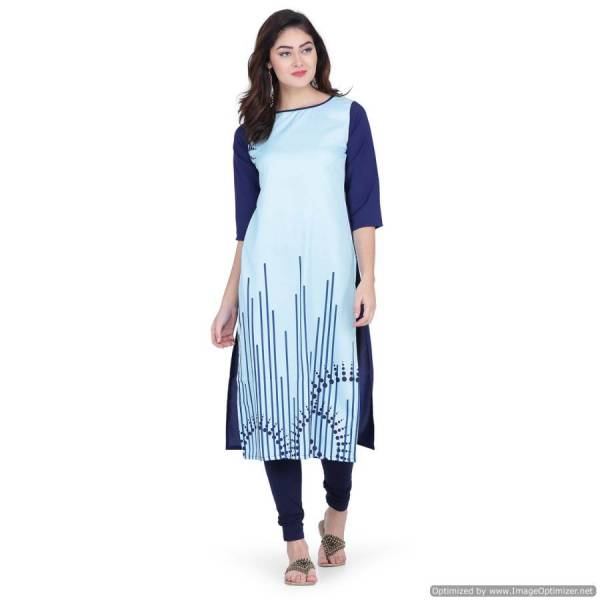 Regular Wear Designer Printed Three Fourth Hand Kurti Collection