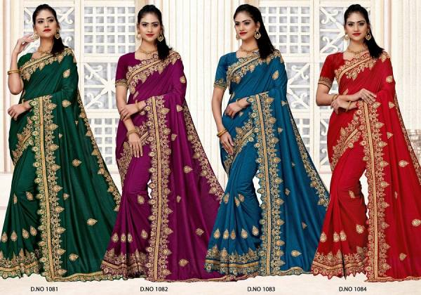 Kalista Dabang 3 Fancy festive Wear Heavy Embroidery Worked Vichitra Silk Sarees Collection