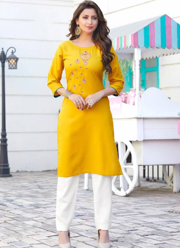 Embroidery Designer Fancy Kurtis Regular Casual Wear Collection