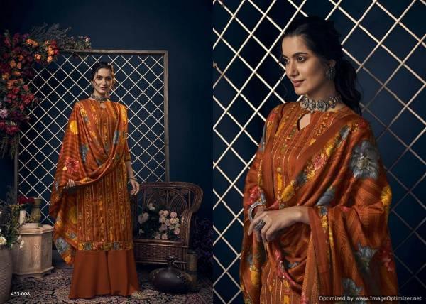 Belliza Kashmiriya Latest Designer Pure Pashmina Digital Print with Exclusive Sleek Kasab Gota Work Dress Material Collection