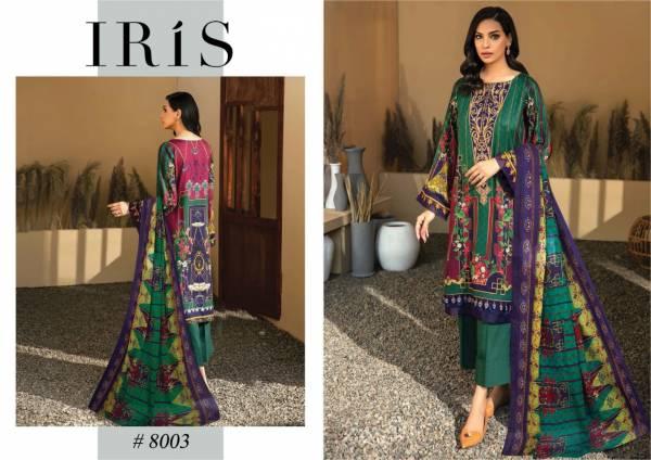 Iris 8 Latest Designer Casual Wear Pure Cotton Stylish Printed Karachi Dress Materials Collection