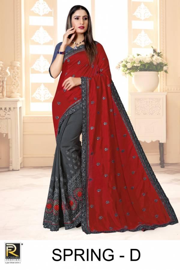 Ronisha Spring Art Silk Fancy Festive Wear Designer Saree Collection