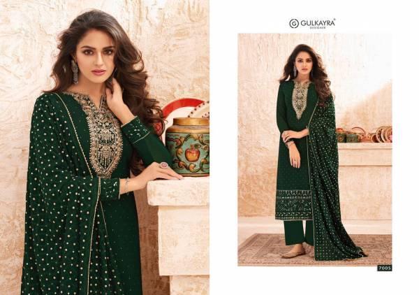 GULKAYRA NAZMIN Latest Fancy Designer Festive Wear Real Georgette Heavy Salwar Suit Collection