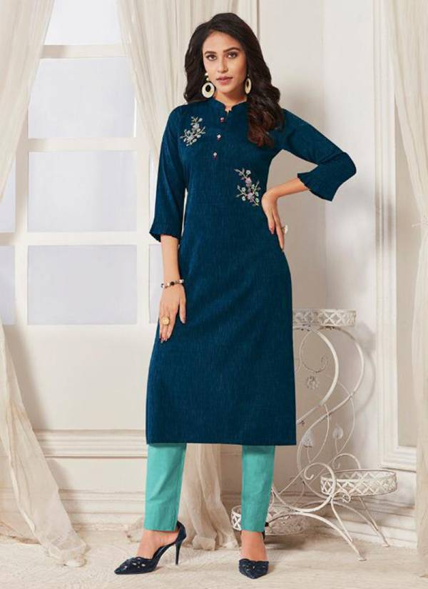 Femista Linen Party Wear Kurti Collection