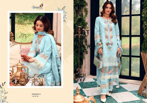Saniya Rouche Color Edition Embroidery Festive Wear Designer Pakistani Salwar Kameez Collection