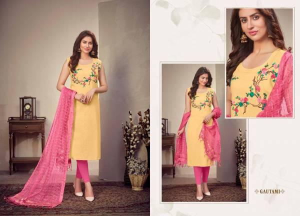 Saheli Dhara Heavy Linen Fancy Designer Ethnic Wear Heavy linen Kurtis With Dupatta Collection